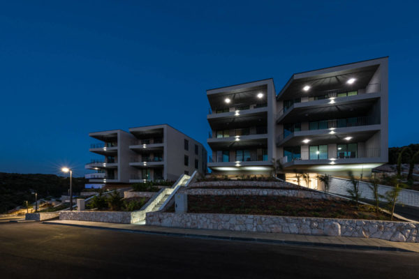 korcula holiday apartments in Croatia at night