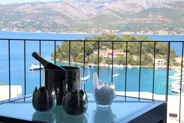 korcula holiday beachview apartment rosmarin in croatia